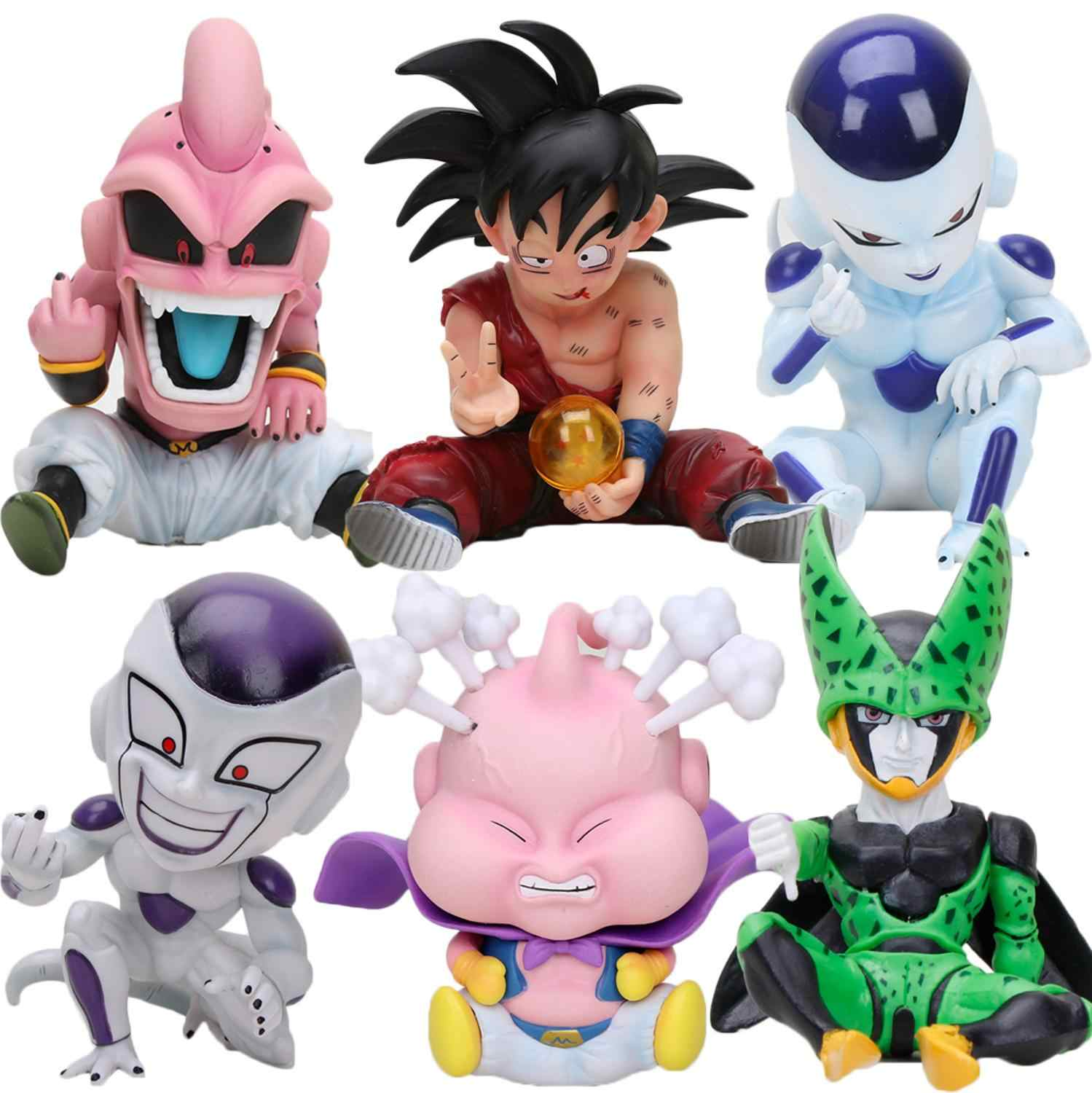 11 cm Lutador do Anime Dragon Ball Z Majin Buu PVC Action Figure Toys Modelo Kid Buu Celular Freeza frieza Fina a partir de