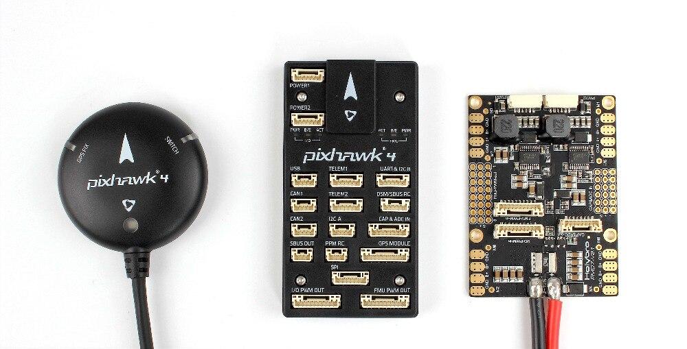 Pixhawk 4 contrôleur de vol avancé + carte de gestion de puissance PM07 PX4 NEO-M8N Module GPS avec boîtier en plastique/aluminium FPV
