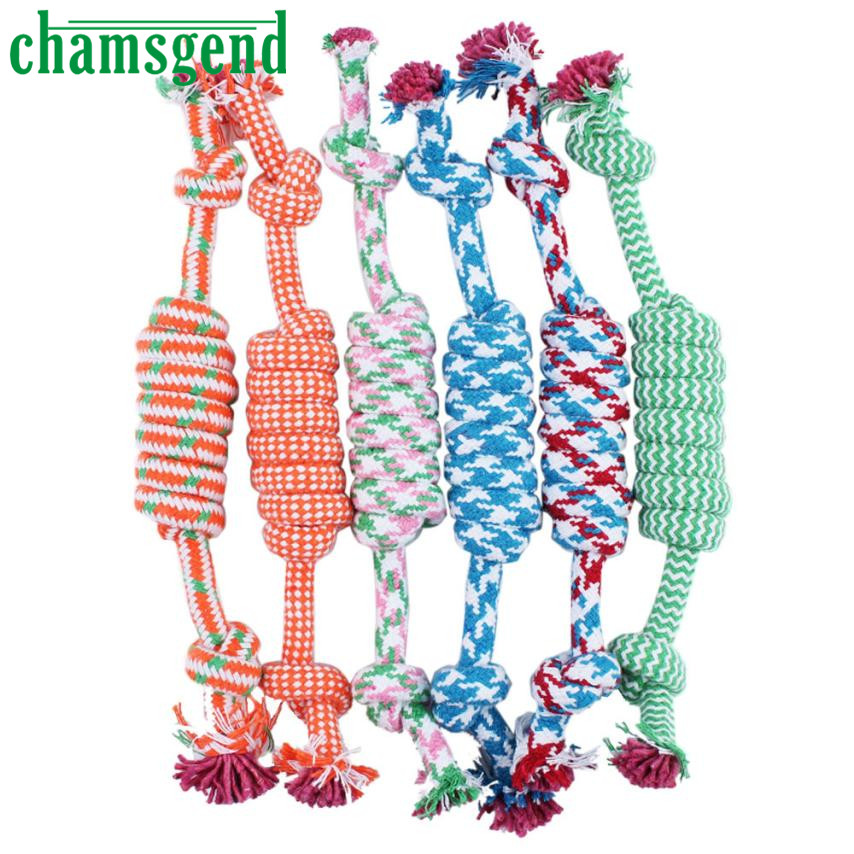 New Qualified Puppy Dog Pet Toy Cotton Braided Bone Rope Chew Knot New Random color Levert Dropship dig645
