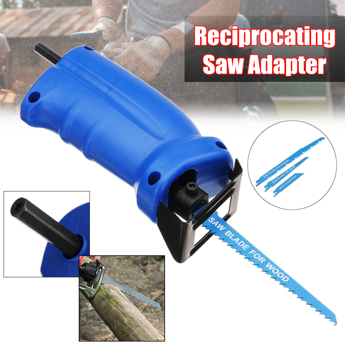 Drillpro Portable Reciprocating Saw Adapter Set Changed Electric Drill Into Reciprocating Electric Saw PartsDrillpro Portable Reciprocating Saw Adapter Set Changed Electric Drill Into Reciprocating Electric Saw Parts