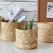 Rounded Hand Woven Basket
