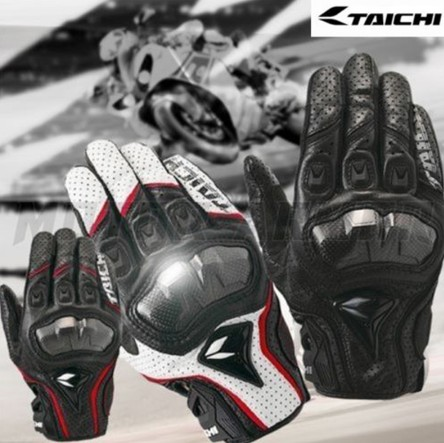 Motorcycle Leather Glove RS Taichi Perforate Carbon Fibre Protection Motocross Guantes Moto Cycling Gear Summer for Men Women