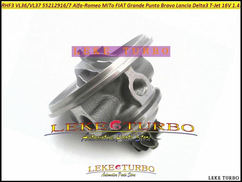 Turbo Cartridge CHRA RHF3 VL36 VL37 For Alfa-Romeo MiTo For FIAT Grande Punto Bravo Lancia Delta T-Jet 16 1.4L 55212916 55212917 turbo cartridge chra 54359700014 55198317 for alfa romeo mito for fiat doblo grande punto linea for lancia musa ypsilon corsa d