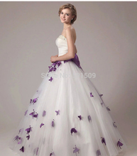 100%real beading purple butterfly waist bowknot medieval vintage royal victoria princess cosplay dress ball gown