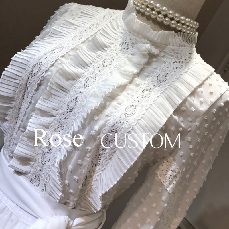 Red RoosaRosee 2019 Runway Designer Summer Women's 2 Piece Set Draped White Black Shirt Tops Irregular Skirt Holiday Party Suits
