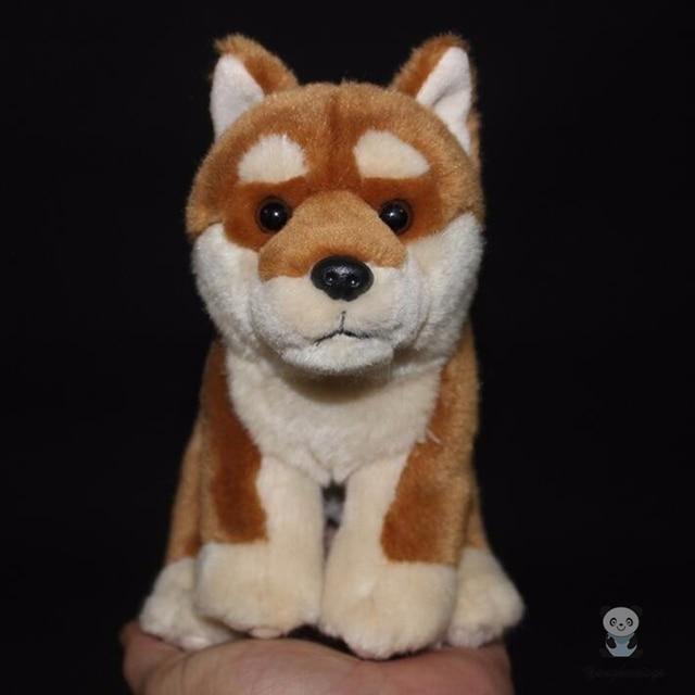 Real Life Plush Stuffed Animal Toy Dogs Doll Children's Birthday Gifts Akita Dog Dolls Toys