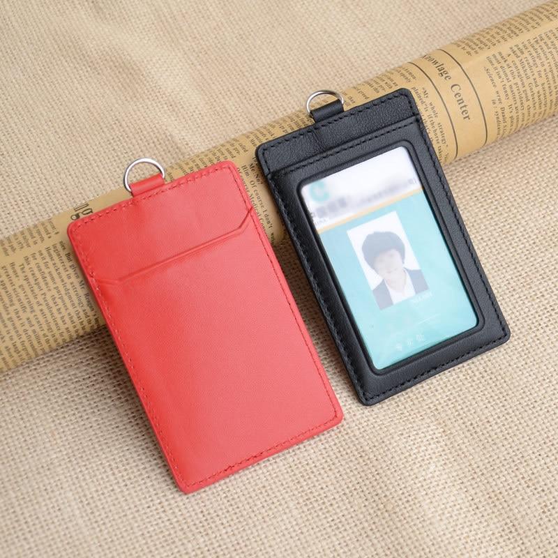 Slanke kaarthouder 2-zijdige verticale stijl echt rundleder - Portemonnees en portefeuilles