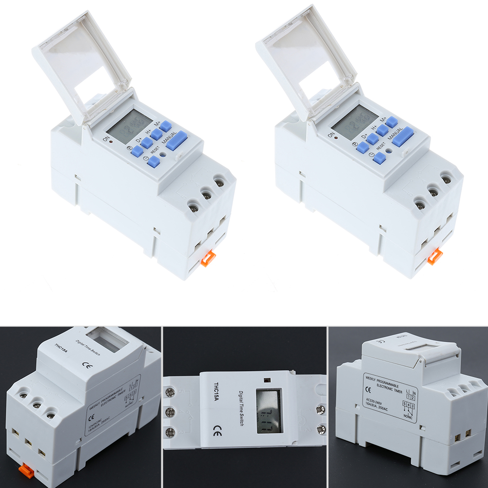 Microcomputer Electronic Weekly Programmable Digital TIMER SWITCH Time Relay Control 220-240V AC 50-60Hz Din Rail Mount digital programmable timer time relay microcomputer electronic digital timer switch relay control 12v din rail mount tp8a16