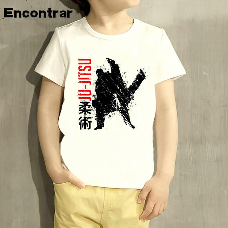 Balita Jiu Jitsu Desain Tshirt Baby Boys/Gadis T Shirt Anak-anak Lucu Lengan Pendek Anak Lucu T-shirt, HKP4051