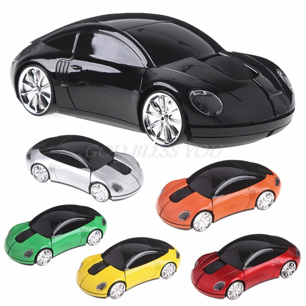 Mouse Car-Shape Wireless-Light Unique-Design Usb-Receiver Optical-Mice 1600DPI New LED