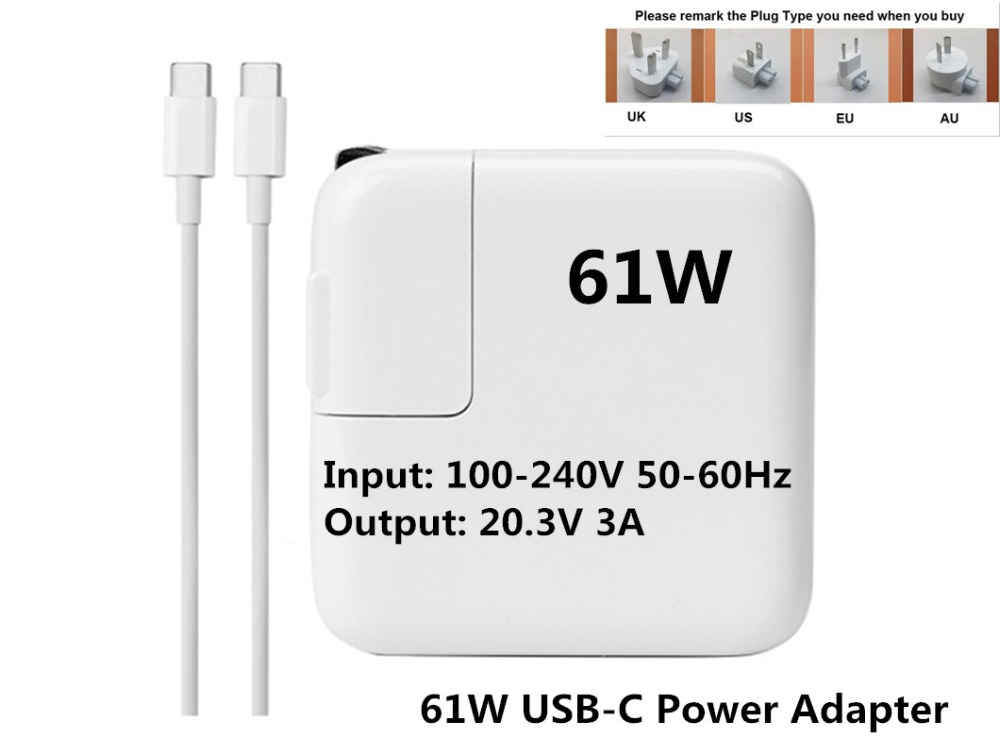 New Arrival High Quality 61W USB C Power Adapter Charger 1718 For Latest Macbook pro 13inch
