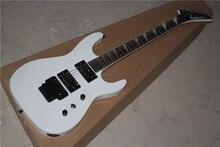 Kostenloser versand Neue Top Qualität musikinstrument weiß farbe floyd rose gitarre Jackson E-gitarre 1117