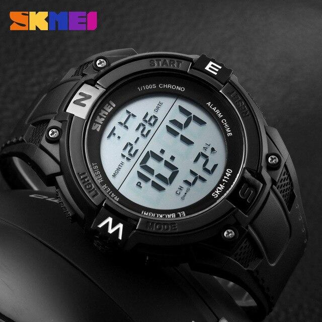 Новый SKMEI Led Модные Мужские Часы Открытый Многофункциональный Спортивные Часы Мужчины Водонепроницаемый Цифровые Часы Человек Часы