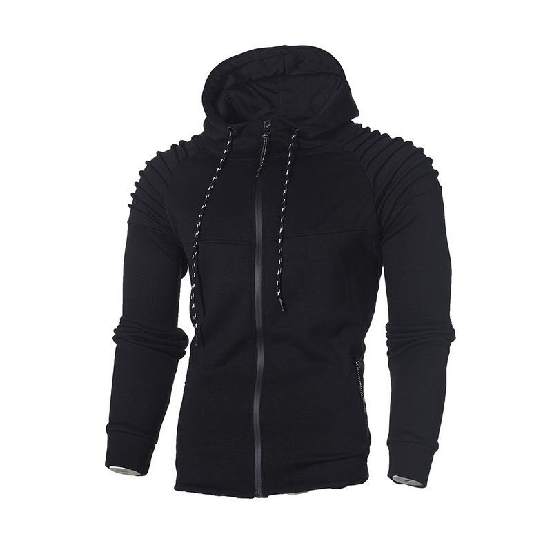 Laamei Mens' Autumn Winter Long Sleeve Sport Zipper Hoodie Pullover Blouse Tops Hoodies Men Long Sleeve Hooded Sweatshirt