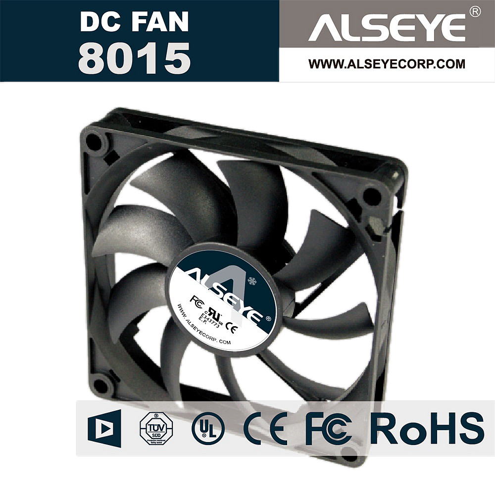 ALSEYE 8015RVM Axial 80mm Cooling Fan DC 12v 0.25A 2500RPM Hydraulic Bearing Exhaust Fan for Computer Case/CPU Cooler купить дешево онлайн
