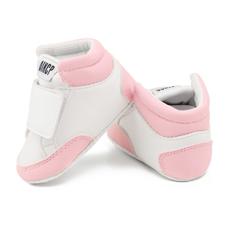 Boys Newborn Baby Girls Classic Heart-shaped PU Leather Shoes First Walkers Tennis Lace-Up Baby Shoes S2