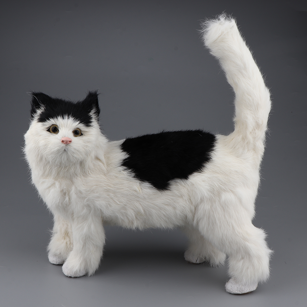 Adorable Stuffed Kitten Cat Plush Soft Pet Toy for Children Gift Home Decorative Ornament