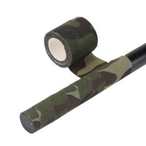 Image 5 - Bande cohésive Non tissée darmée bande cohésive de chasse de Camping de Camouflage Non tissé auto adhésive de 5 M
