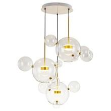 Modern Pendant Lights Bubble Globe suspension Lamp Kung Glass Hanging Lamp Home Lighting Lustre luminaire LED Light Fixtures недорого