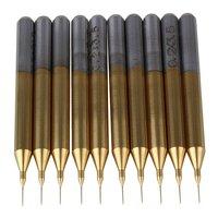 0 2mm Blade 1 8 Shank Titanium Coated Carbide Micro Drill Bits PCB CNC End Mill