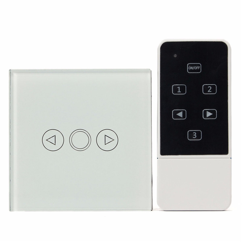 Newest EU Standard Remote Control Switch Crystal Glass Touch Panel Dimmer Ring Remote LED Wall Light Switch White Promotion 2017 smart home crystal glass panel wall switch wireless remote light switch us 1 gang wall light touch switch with controller