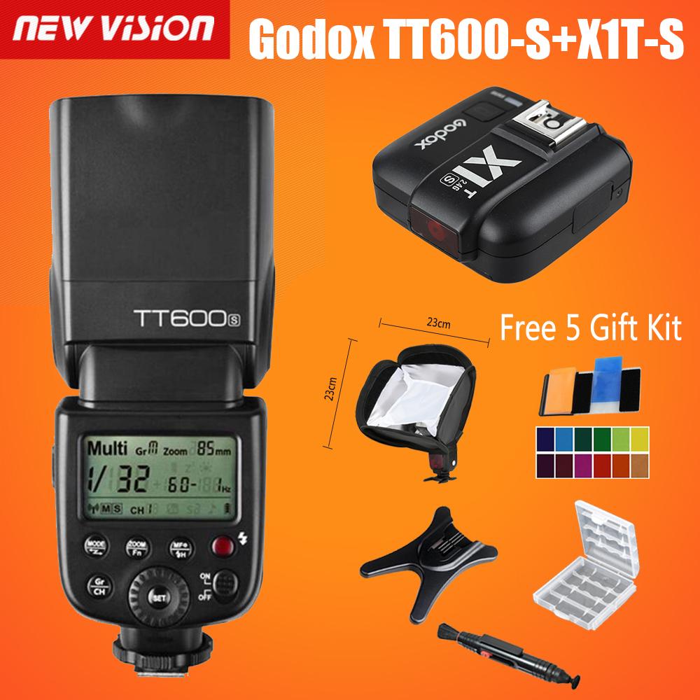 Prix pour Godox TT600s HSS GN60 2.4G Caméra Flash Speedlite + X1T-S transmetteur pour Sony A7 A7S A7R A7 II A6000 A58 A99