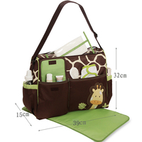 Multi Pockets Mom Diaper Bag For Baby Nappy Changing Stroller Bag Infant Nappy Bags For Baby