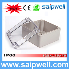 Best Hot Sale ip66 Waterproof Plastic Case with Transparent Cover 125*125*75mm High quality DS-AT-1212-S