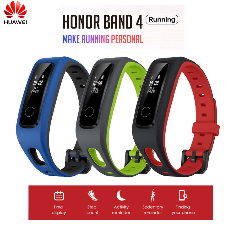 Originele Huawei Honor Band 4 Running Versie Schoen-Gesp Impact Fitness Tracker Edition Smart 50M Waterdichte Slaap Snap monitor