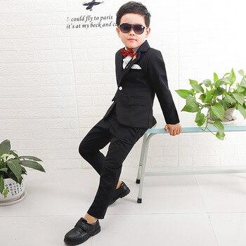 Children's Wear Suit Boy Suit Children's Suit Four Piece Set Baby Set Wedding Flower Boys Set