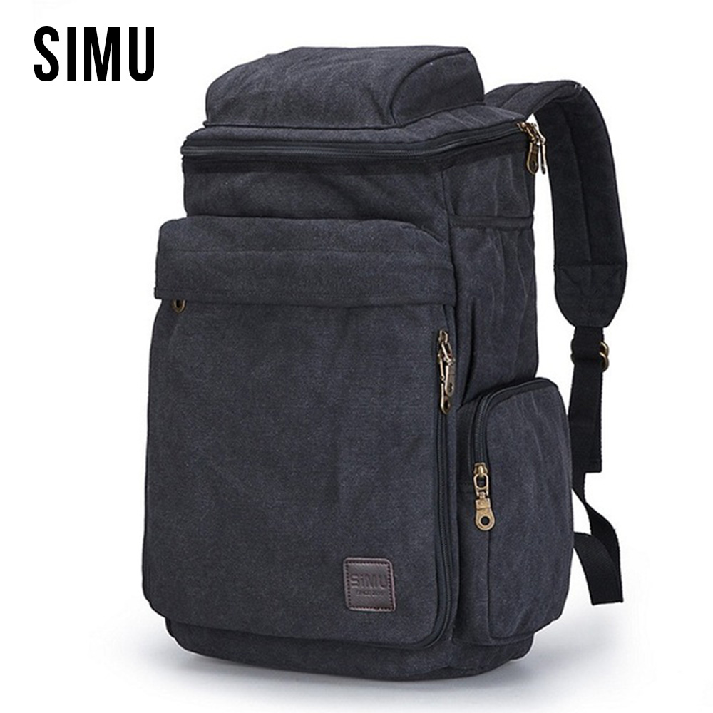 цена на Canvas School Laptop Backpack Teenagers Men High Quality Casual Backpacks Men's Travel Vintage Daypack Shoulder Bags HQB1885