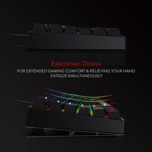Image 4 - Redragon K582 SURARA RGB LED עם תאורה אחורית משחקים מכאניים מקלדת with104 מפתחות ליניארי ושקט אדום מתגי מהיר Actuation