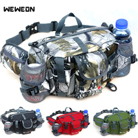 Outdoor Running Waist Bag with Bottle Multifuntional Sport Backpack for Hiking Cycling Shoulder Bags Tactical Pack bolsa