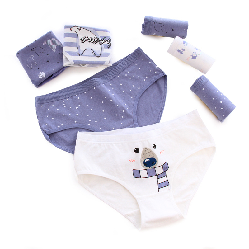 Cotton Women   Panties   Polar Bear Pattern Cotton Underwear Women Briefs Lingerie Sexy   Panties   Women Underwear Tanga String