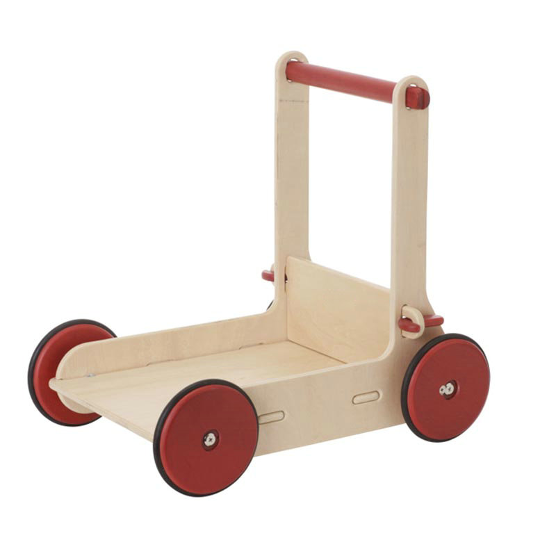 Baby Walker Natural / Red Color For Available, High Quality Safer Wooden Dolls Carriage
