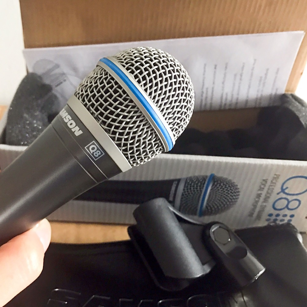 Updated New Original Samson Q8 Professional Dynamic Vocal Microphone Handheld Microphone With Carry Bag And Clip Free Shipping