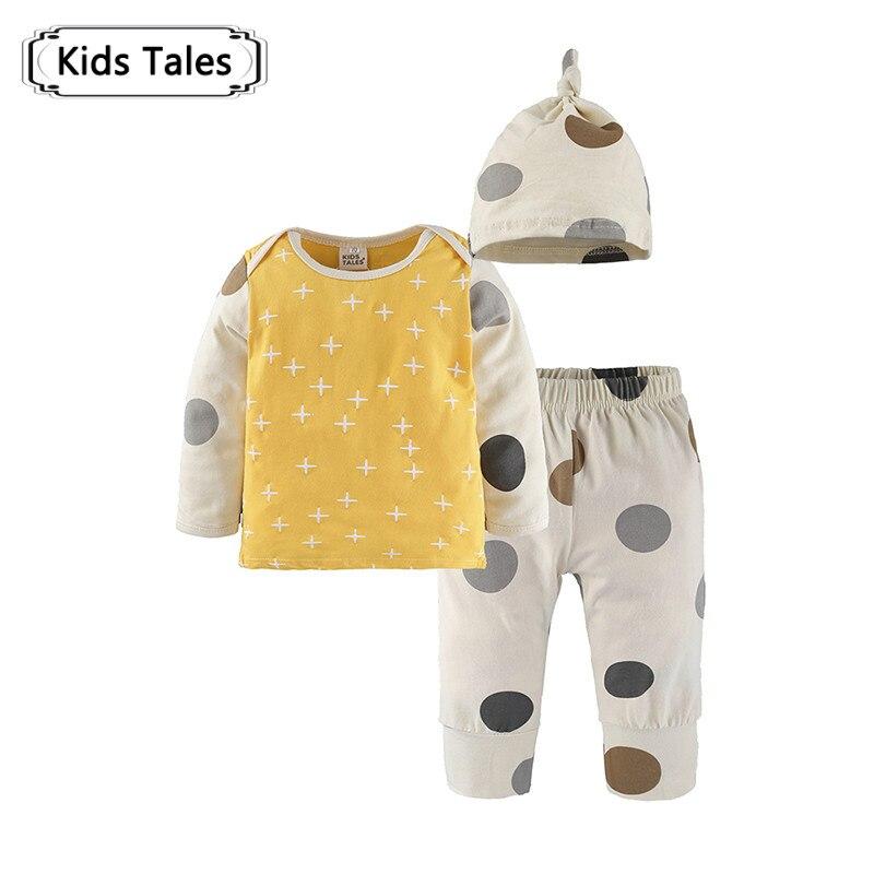 3Pcs / Set Baby Clothes 2018 Autumn Baby Boys Clothes Spot Infant T-shirt + Pants + Hat Kids Suits Child Suit Sy301