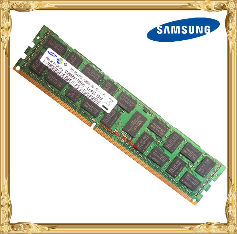 <font><b>Samsung</b></font> <font><b>DDR3</b></font> 4GB 8GB server memory 1333MHz <font><b>ECC</b></font> <font><b>REG</b></font> <font><b>DDR3</b></font> PC3-10600R Register DIMM RAM 10600 4G X58 X79 motherboard use image