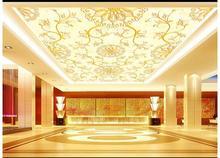Custom 3d photo wallpaper ceiling Patterned carpet smallpox condole top murals living room wall paper