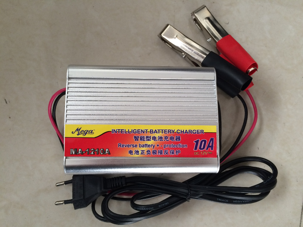 Free shipping! 220V to <font><b>12V</b></font> Car Battery Charger 10A Boat Bicycle Lead-acid Battery Charger AC/DC <font><b>Adaptor</b></font> image