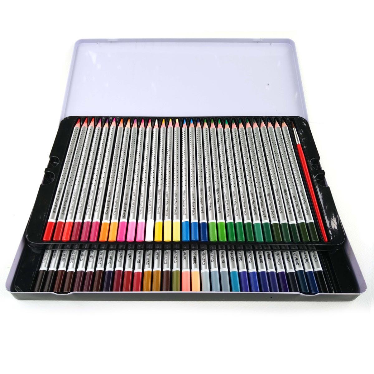 Hjälte 72 Färgade pennor Konstnär Skiss Lapices De 72 Colores Hemlig trädgård Naturligt trä Inga giftiga vattenfärgblyerts Partihandel