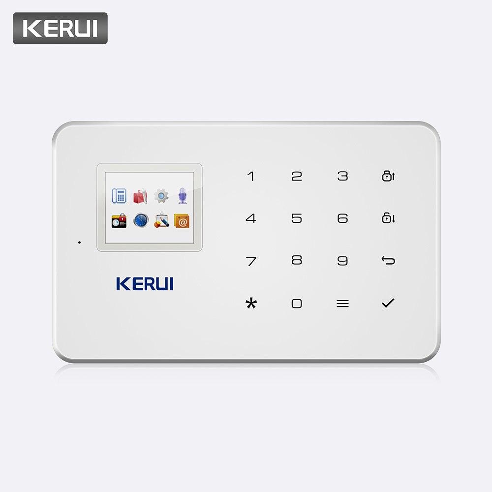 Kerui g18 sem fio gsm sistema de alarme vigilância segurança em casa ios android app controle remoto sms chamada push host sistemas de alarme
