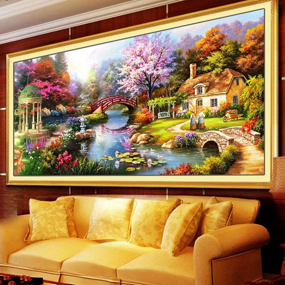 Beautiful Dream Country Pattern Full Diamond Painting American Style ...