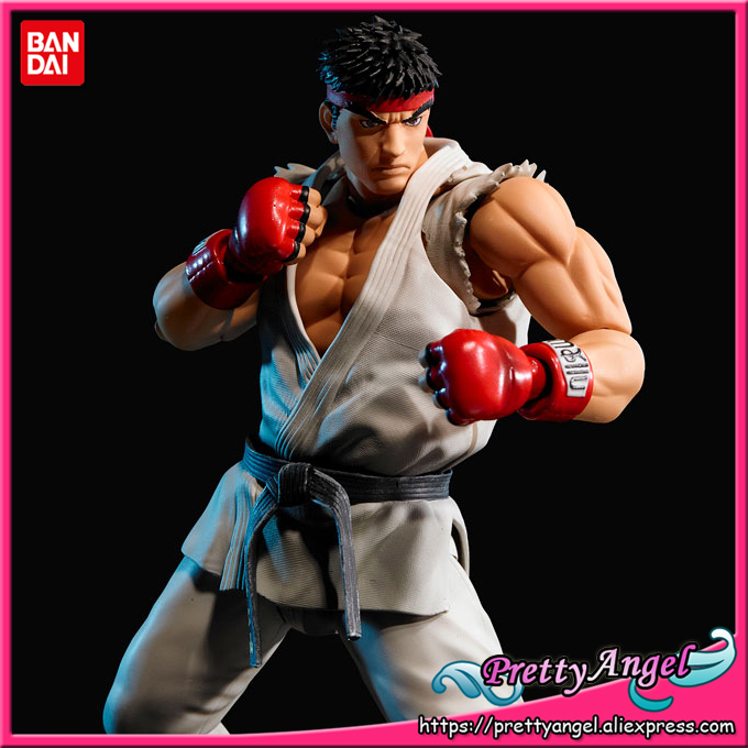 PrettyAngel - Genuine Bandai Tamashii Nations S.H.Figuarts Street Fighter Ryu Action Figure bandai million generations of genuine space warship garunto 2199 space re burst fighter no 17
