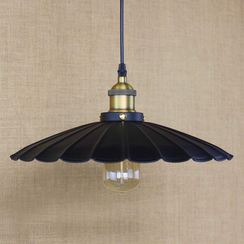 Edison Loft Style Vintage Industrial Retro Pendant Lamp Light Holder Restaurant Bar Counter Attic Restaurant black white E27