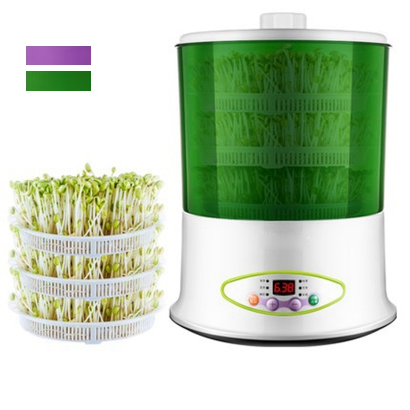 HIMOSKWA 2 Layer / 3 Layer Multifunctional Vegetables Sprouts Machine Seed Germinator Home DIY Yogurt Rice Wine Maker 220V