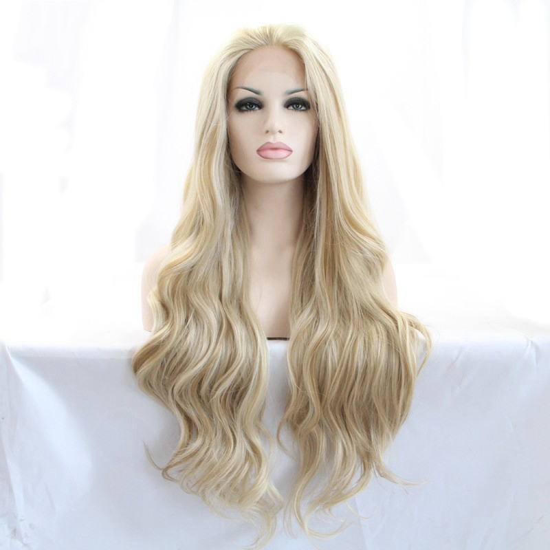 JOY&BEAUTY hair women long loose wave wigs 26inch synthetic lace front wig
