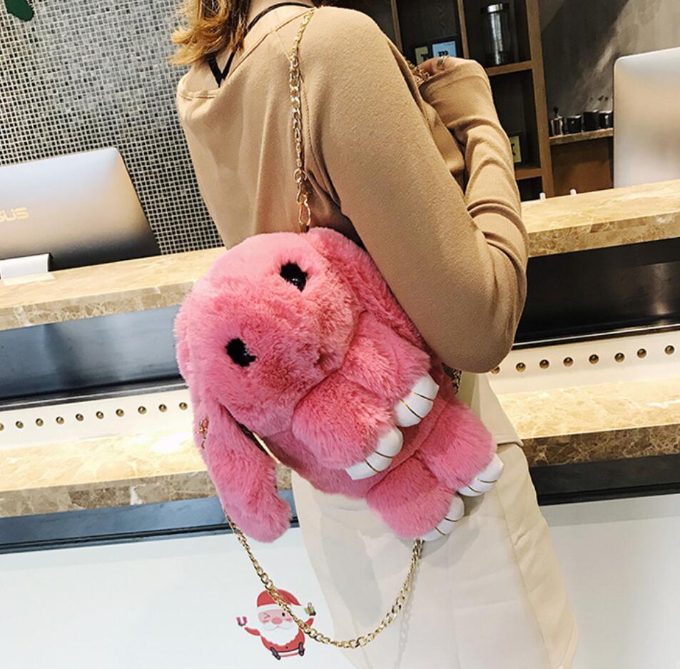 Cute Backpack For Teen Kids Mini-back Pack High Quality Soft Plush Women Backpacks Sweet School Bag Cute Chain Shoulder Bag #6