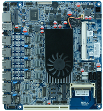 MINI ITX MOTHERBOARD  D25SL with 2*COM/6*USB/VGA/DC12V,6 Gigabit ethernet  ports  router sever firewall motherboard