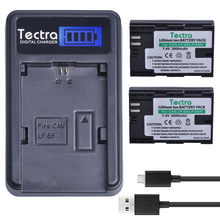 Tectra LP-E6 LP-E6N LPE6 LP E6N 2PCS 2000mAh/Li-ion Digicam Battery  + LCD USB Charger for Canon 70D 5DII 5D2 5D3 7D 6D 60D